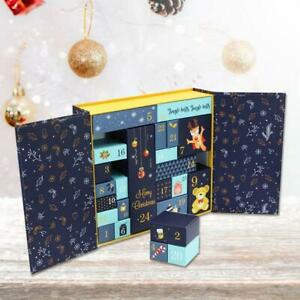 DIY Paper Calendar Gift Christmas Countdown 24 Cabinet Toy For Girl Boy Xmas