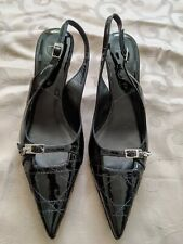 Beautiful Elegant Designer Christian Dior Patent Leather Slingback Pumps 36 Rare