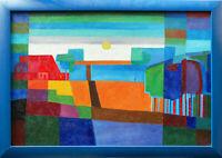 Künstler 20. Jahrhundert: Norddeutsche Landschaft Ölgemälde  61 x 91 cm Unikat