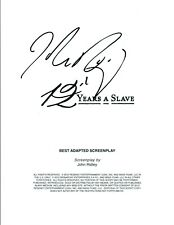 John Ridley Signed Autographed 12 YEARS A SLAVE Screenwriter Movie Script COA