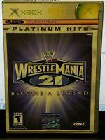 Wrestlemania 21 WWE WWF - Original Microsoft Xbox Game 1 Owner Near Mint Disc