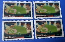 4 New BOSTON RED SOX Fenway Park Commemorative MINT US Postage Stamps Lot Nation