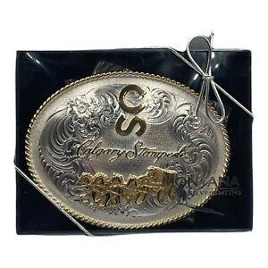 Montana Silversmiths Calgary Stampede Belt Buckle Western Chuck Wagon Brand New