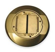 Dispositivo de cableado HUBBELL-Kellems S 1 cfcbrs Cubierta De Caja De Piso Alfombra Brida, Latón