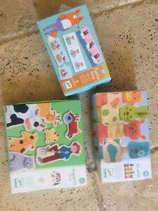 Djeco - bundle - Animals to assemble - Magnetic Farm - Puzzle trio - used