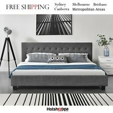 KING BED FRAME Firm Mattress Support FULL LENGTH STRAIGHT SLATS Metal HOTSHOPPA