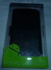 Samsung Galaxy S LCD Leather Case by AEGIS - Black