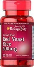 Puritan's Pride RED YEAST RICE - 600 mg / 60 Capsules - LOWER CHOLESTEROL