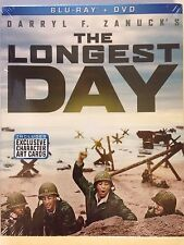 The Longest Day (Blu-ray/DVD, 2015, 2-Disc Set) (NEW/SEALED)