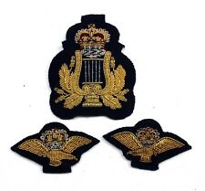 RAF ROYAL AIR FORCE BANDSMAN CAP & COLLAR BADGES