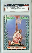 1992 Topps Stadium Club Beam Team #1 Michael Jordan AGC 9 Mint Chicago Bulls
