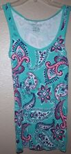 FADED GLORY PAISLEY MULTI COLOR TANK SIZE XS