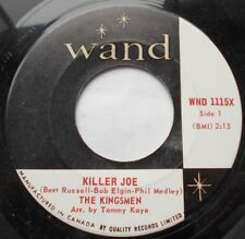 THE KINGSMEN Killer Joe / Little Green Thing Ex to NM- CANADA 1966 GARAGE 45