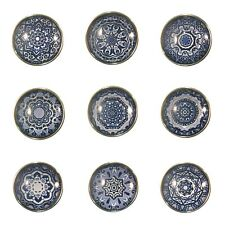 Noosa Style Chunks Ginger Snap On Jewellery Button Charms Mandala Navy Blue 18mm