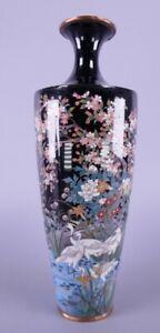 Fine Old Antique Japanese Cloisonné Meiji Period Vase 19th Century