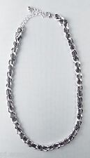 10mm Silver Curb Chain 20-23 inch Necklace