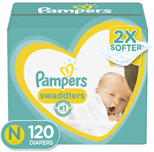Diapers Size N 120 Count - Pampers Swaddlers Disposable Baby Diapers