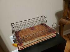 Vintage Steam Punk Wire Basket - Depression Era Desk Tray/ Inbox