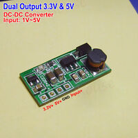 3.3V & 5V Dual Output DC-DC Converter Step Up Boost Voltage Power Supply Board