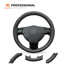 Top Black Genuine Soft Leather Steering Wheel Cover for Saturn Astra 2008-2010