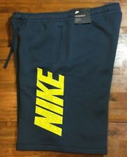 NIKE GX FLEECE/SWEAT SHORTS - Men's Large L (blue/yellow) NWT