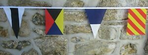 Nautical International Signal Flags Polyester Bunting - Various Lengths