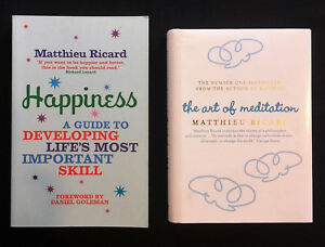 2x Matthieu Ricard, The Art of Meditation + Happiness: A Guide to Developing