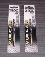 "2 ea. 9/32""  Vulcan 150-3309  High Speed Steel  Drill Bits"