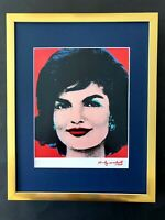 ANDY WARHOL + 1984 SIGNED JACKIE KENNEDY PRINT MATTED 11X14 + BUY IT NOW!