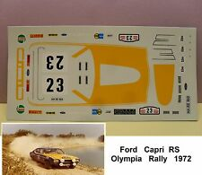 DECALS  FORD CAPRI  RS   OLYMPIA  RALLYE  1972   MODEL  1/43