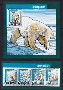 Guinea-Bissau 2015 Polar bear North Pole Animals Wild postage stamps MNH** YX