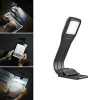 USB Rechargeable Clip On Book Light LED Flexible Reading Lamp For Reader US