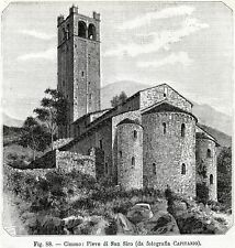 Cemmo: Pieve di San Siro. Capo di Ponte.Val Camonica.Brescia.+ Passepartout.1898