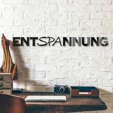Acrylbuchstaben  Entspannung DEKOELEMENT Wohnaccessoires Wanddeko schwarz