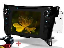 "Telecamera posteriore 8"" GPS NAV DVD Autoradio BT Per Nissan Qashqai X-Trail T32"