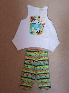 BNWT Tuc Tuc Girl's Camiseta & Leggings Jungle Print Age 6M RRP £26