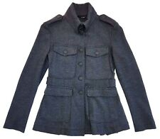 Rag & Bone Wool Dark Grey Military Leigh Jacket Size 0 Womens