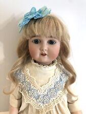 """Antique German Doll 22"""" Adolf Wislizenus A. W. Special Bisque Head Doll"""