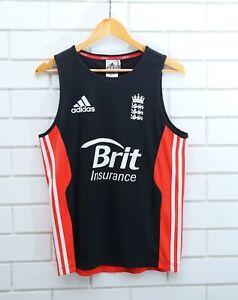 Official Adidas England Cricket Training Singlet Vest Brit Insurance Size Small
