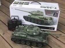 RC Panzer Russland T34 2,4GHz 1:16 7,4V AKKU Metallgetriebe ZUSAMMENGEBAUT NEU