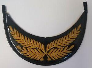 Genuine British Made Senior Officer Gold Wire Palm Leaf Dress Cap Peak PK33