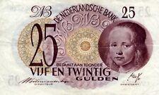 biljet 25 gulden 1945