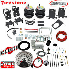 Firestone Ride Rite Air Bags & AirLift Load Compressor for 11-16 Ford F250 F350