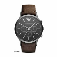 EMPORIO ARMANI BROWN LEATHER STRAP MEN'S WATCH AR2462