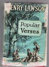 POPULAR VERSES  Henry Lawson  old red hardcover 1937 in very deficient jacket