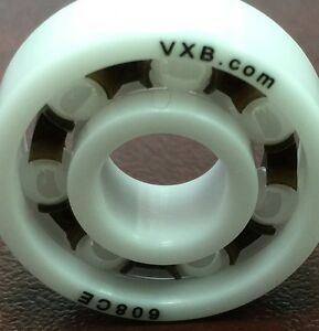 Skateboard Racing FULL ALL Ceramic High Speed Skate Ball Bearing 1-Piece ZrO2