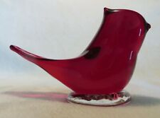 SCARLET RED BLUEBIRD OF HAPPINESS Figurine ~ Signed Leo Ward ~ 1998