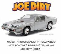 GREENLIGHT 12952 Joe Dirt 1979 Pontiac Firebird Trans Am T/A diecast car 1:18th