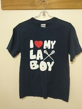 I Heart My La Boy Blue Lacrosse T-Shirt Sz Small #33 Mack