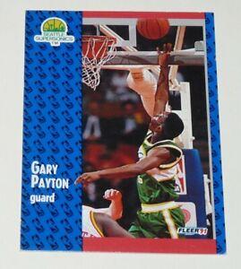 GARY PAYTON SEATLLE SUPERSONICS 1991 NBA BASKETBALL FLEER 91 CARD